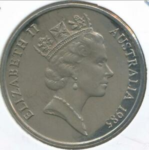 Australia-1985-Twenty-Cents-20c-Elizabeth-II-Gem-Uncirculated