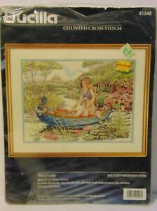 Rare-Opened-New-Tis-A-Lady-Bucilla-1996-Counted-Cross-Stitch-Kit-By-Diana-Thomas