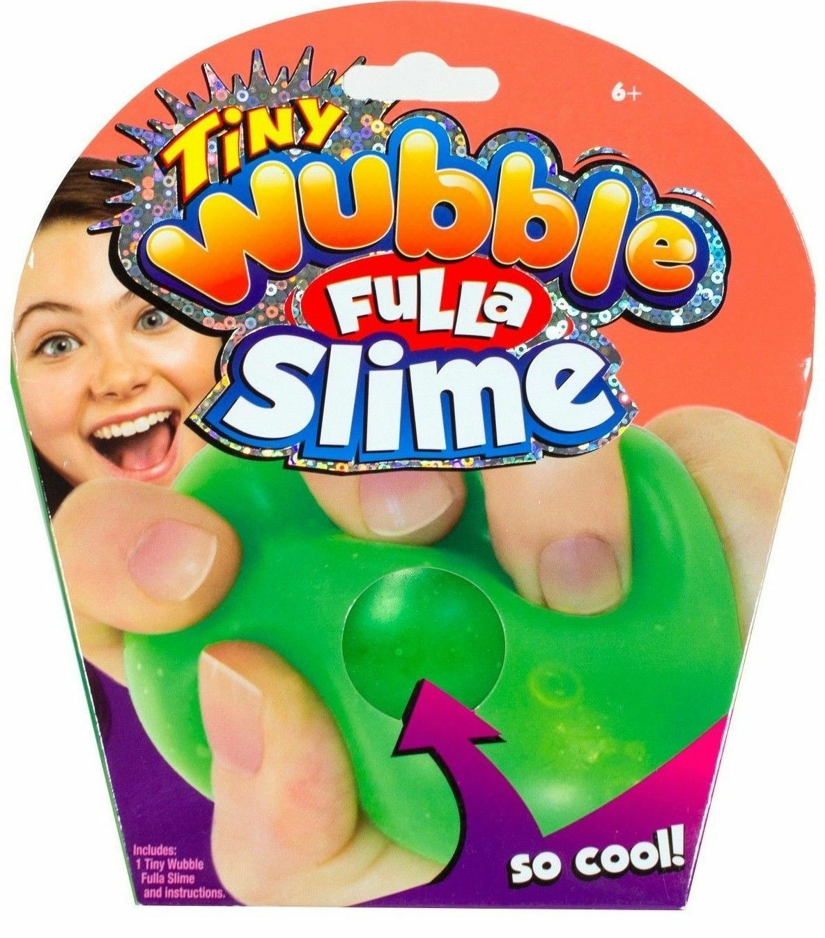 Tiny Wubble Fulla Sparkles-New Wubble Ball Filled With Shiny Colorful Sparkles