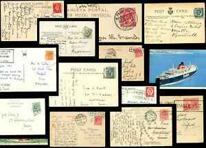 SHIPS-BOATS-MARITIME-PPCs-RELATED-POSTMARKS-CARDS-NAVAL-etc-POSTALLY-USED