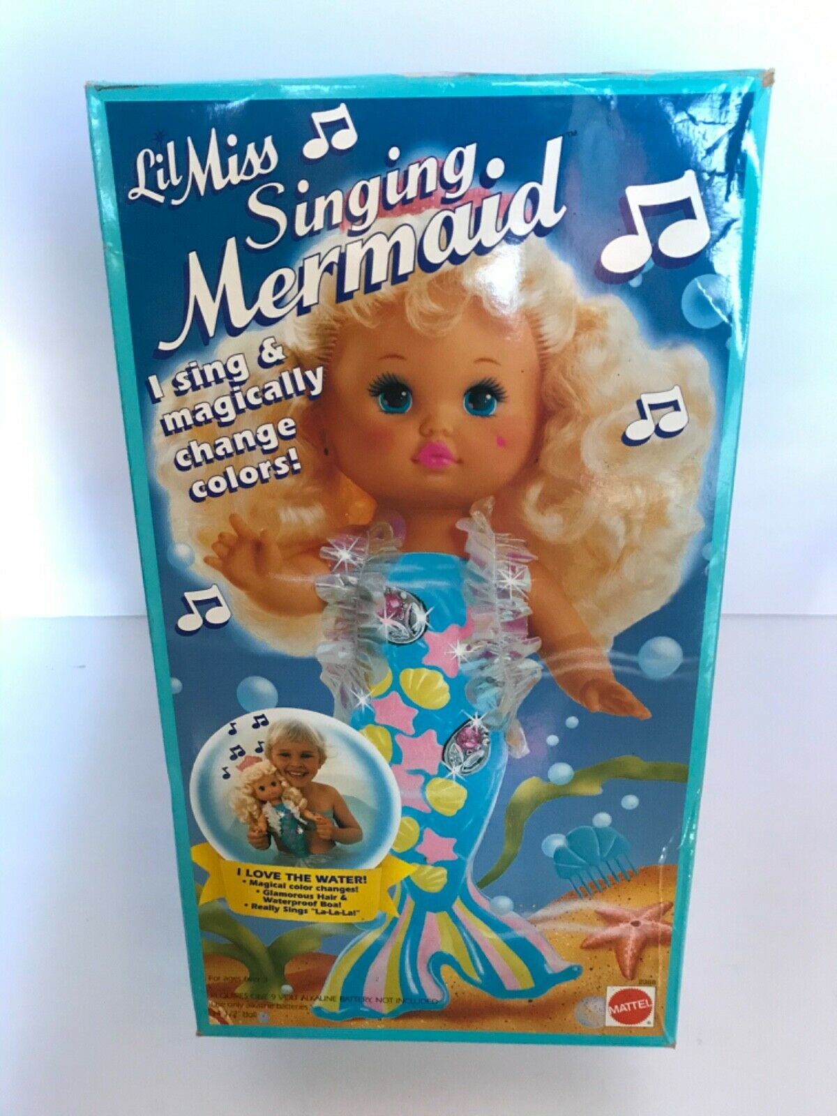 Vtg Lil Miss Singing Mermaid 33 Cm Doll Mattel 1991 Europe Mib Nrfb 2368 For Sale Online Ebay
