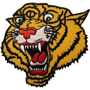 Tiger Head Embroidered Iron on Sew On Patch Clothes Bag  Shirt Jeans Biker Badge