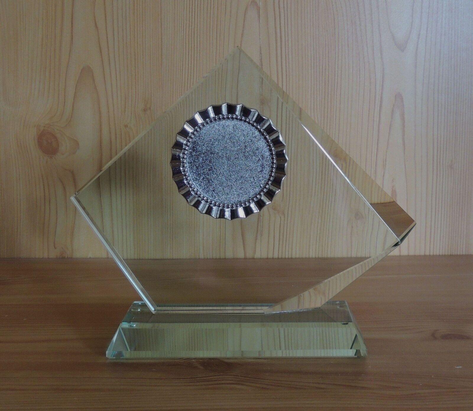 1 Jade Glas-Trophäe 15mm Größe 18x21cm mit Gravur (Glaspokale Pokal Pokal Pokal Jubiläum) c12e1c