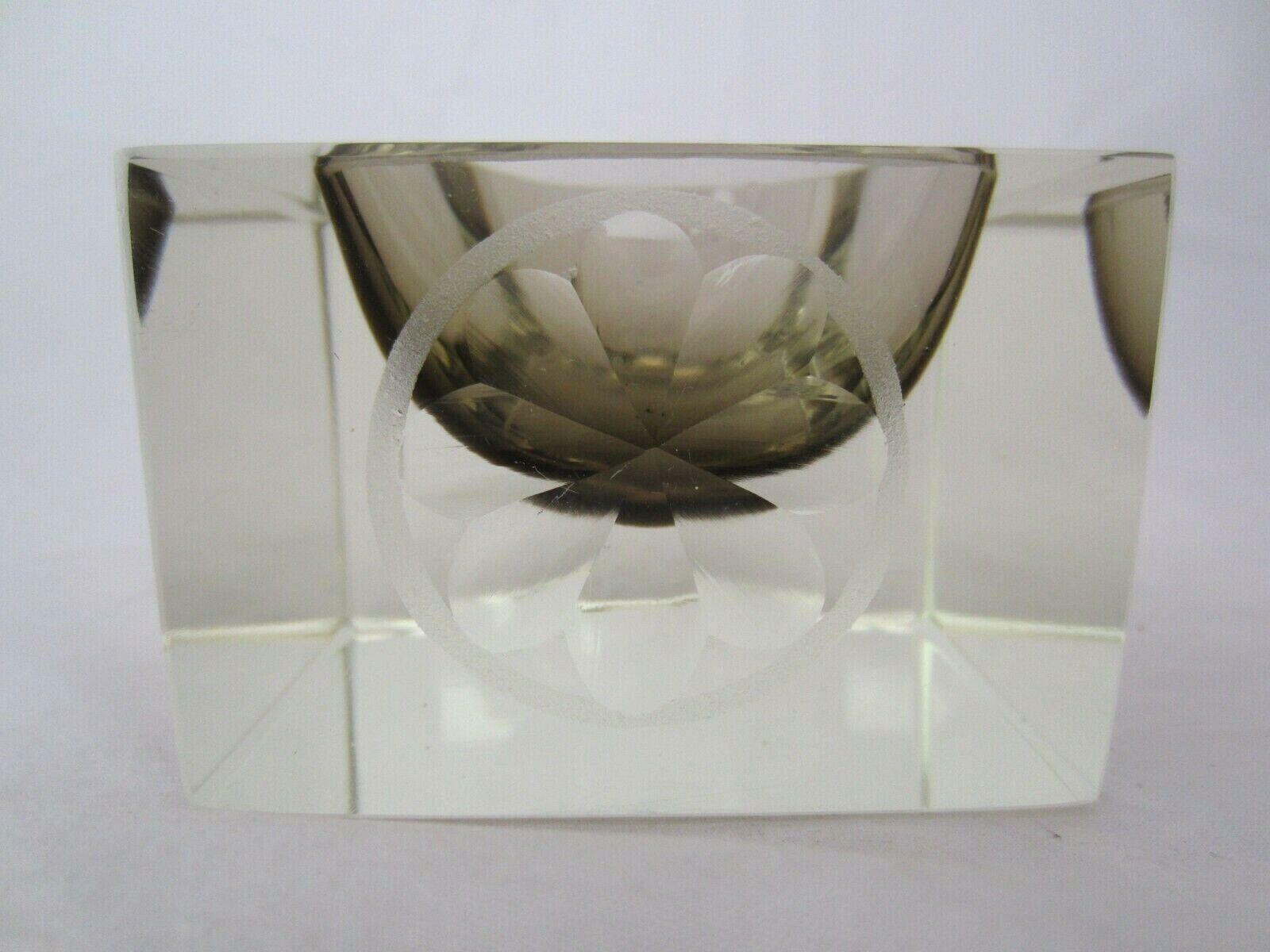 Vintage tazón de fuente de cristal Murano mandruzzato italiana Deportes  trofeo look futurista  nueva marca