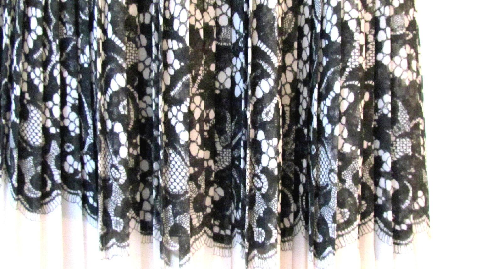 Mujer Faldas Plisado Faldas Diseño Dkny blancoo Negro Encaje  Falda Estampada 10.R  bienvenido a elegir