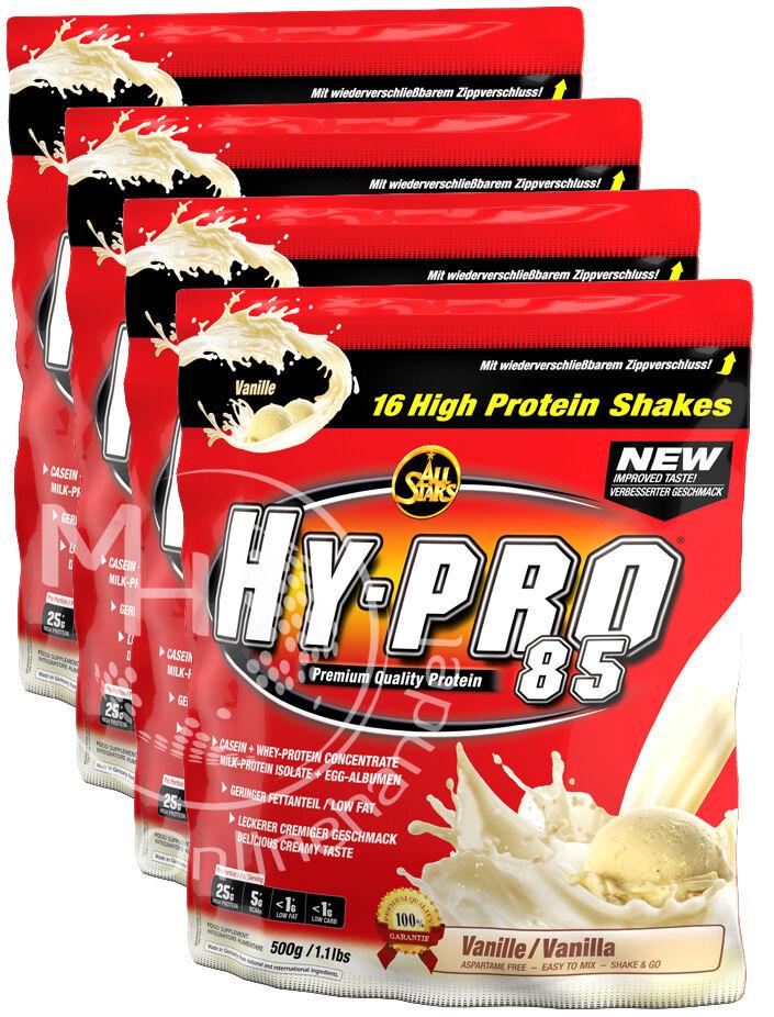 All Stars Hy-Pro 85 Beutel 4x 4x Beutel 500g ( /Kg) Eiweiss Vitamin Protein Shake 755418