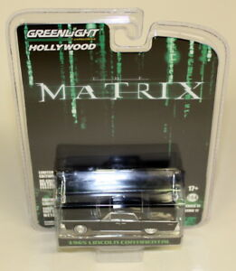 Greenlight-1-64-Scale-1965-Lincoln-Continental-The-Matrix-Diecast-Model-Car