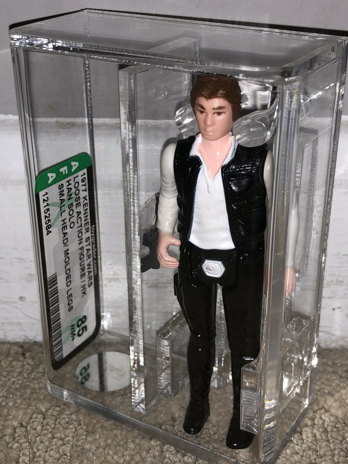 AFA 85 Star Wars 1977 Loose Han Solo Solo Solo Small Head Molded Legs Figure Kenner NM+ 4c375a