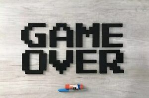 Huge-19-034-x-10-034-Game-Over-video-game-logo-wall-sign-decoration-art