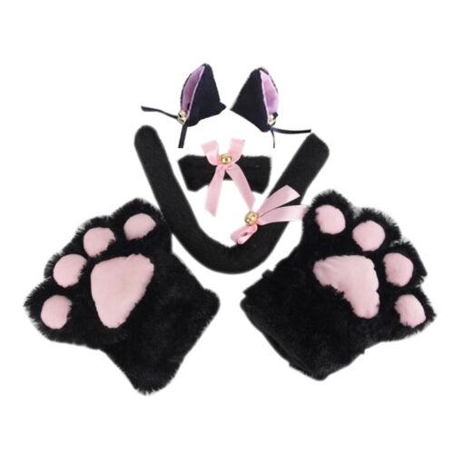Kitten Cat Maid Cosplay Thundercats Anime Costume Gants Patte oreille queue Tie Parti Biz