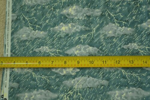 """Andover Thunder Storm on Blue Quilter/'s Cotton By-the-Half-Yard M6699 45/"""""""