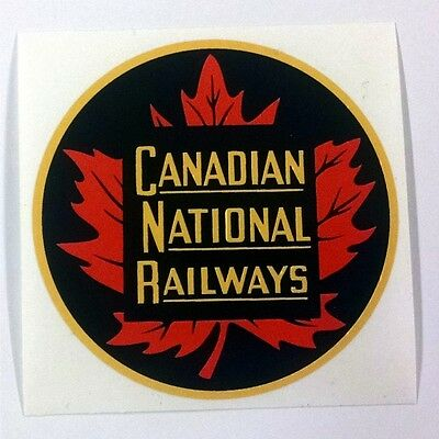 "4/"" canadian national railroad logo decal sticker"