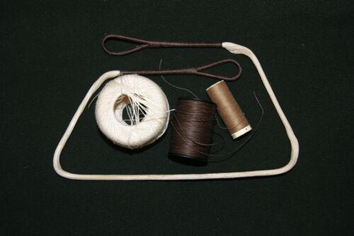 Handmade Di Alta Qualità Lino BALESTRA stringa per Re-Enactment Antico LARP