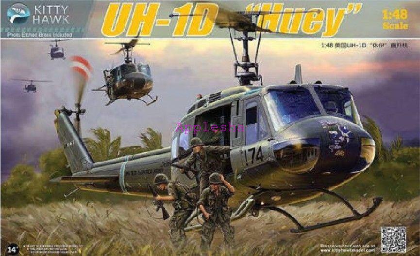 Kitty Hawk 80154 1 48 UH-1D  Huey  NEW