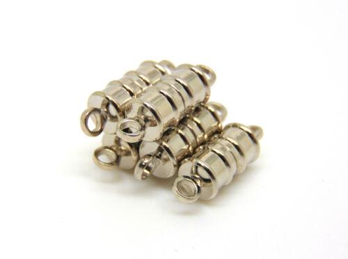 5 x 17mm argent plaqué fort magnétique fermoirs bijoux findings craft L71