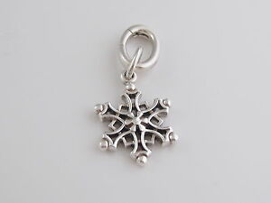 f583b1a986891 Details about Tiffany & Co Silver Snowflake Charm For Necklace Bracelet