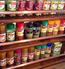 BARRA Di Rame/Hand Made in legno Spice Erbe Cremagliera/Mensole Cucina.