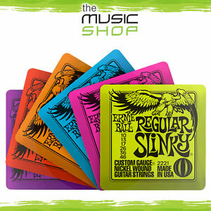 Set of 6 Ernie Ball Slinky Coasters - Great Gift for a Guitarist - 4003