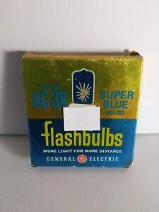 General Electric AG-3B AG3B Flashbulbs Super Blue NOS (12 per box)