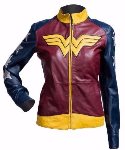 Wonder Woman Adrianne Palicki Costume Stylish Ladies Leather Jacket