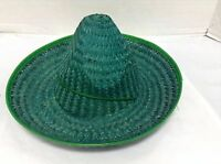 1 Kids Toys Mexican Sombrero Straw Hat Birthday Party Fiesta Supplies Green