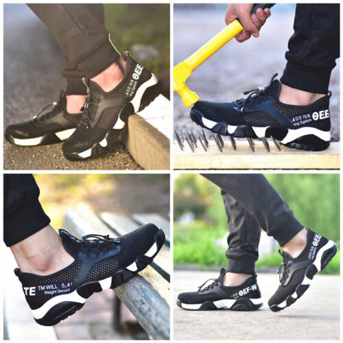 Womens//Mens Steel Toe Cap Breathable Lightweight Comfortable Work Safety Shoes