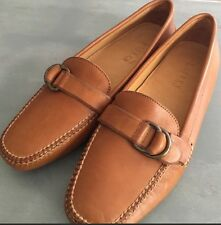 NEW 7.5 Ralph Lauren Brown Leather Driving Moccasins Loafer Women's
