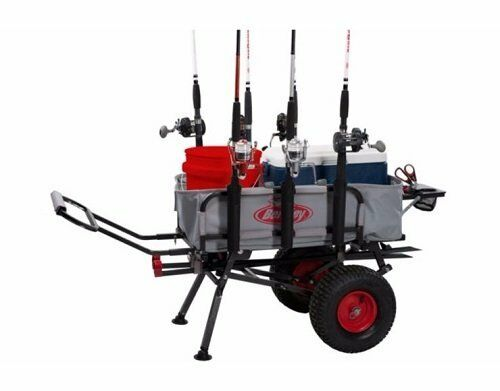 Collapsible Fishing Cart w/ Adjustable Handle & Heavy Duty Duty Duty Wheels - Holds 200 lb 03a44f