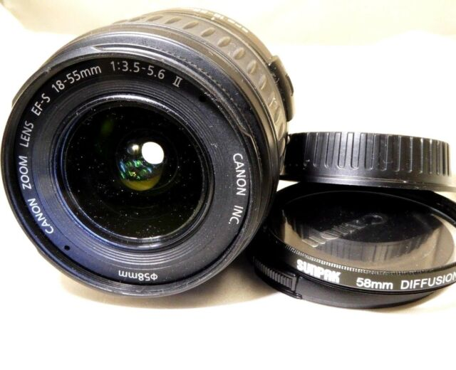 Canon EF-S 18-55mm f3.5-5.6 II USM Objetivo para Digital Rebel T6i T7i T7 70D