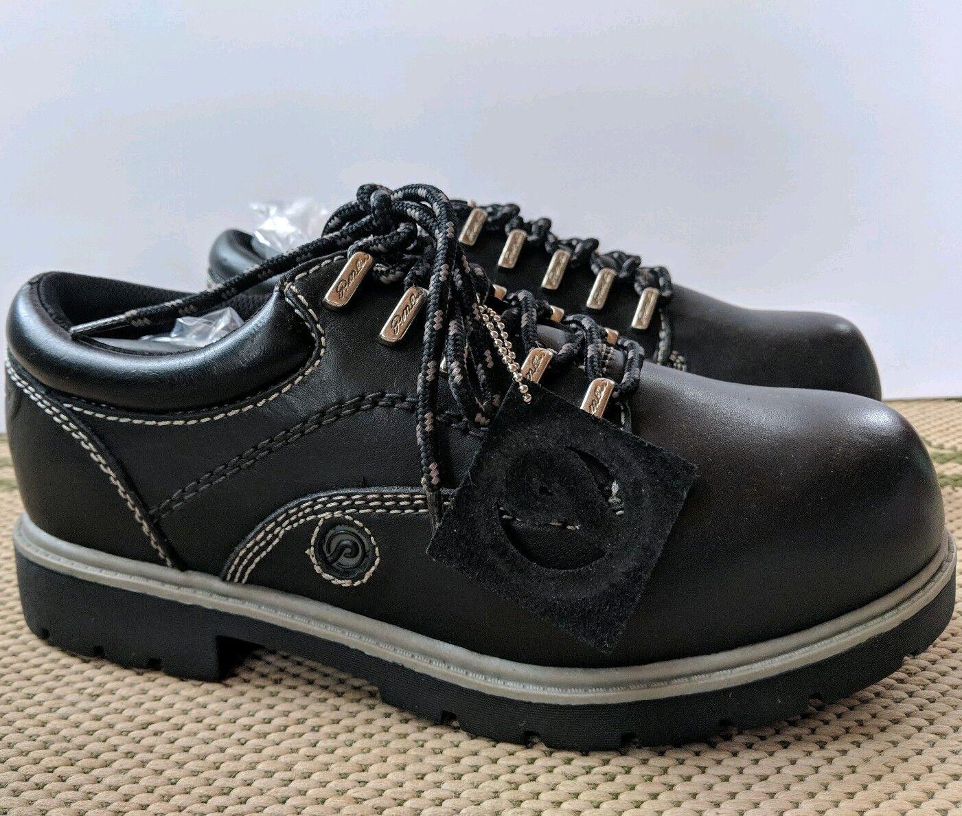 Nuevo En Caja Para Hombre botas De Cuero Negro P. Miller DECEPTOR