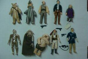 Star-Wars-10-Action-Figure-LOT-Vintage-WEAPONS-Kenner-1977-12-back-set-afa-3