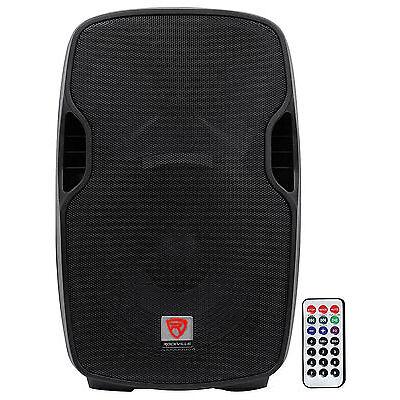 "Rockville BPA15 15"" Professional Powered Active 800w DJ PA Speaker w Bluetooth"