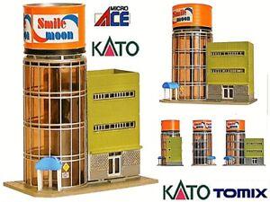 KATO-by-TOMIX-PALAZZO-a-TORRE-CYLINDRIQUE-avec-BAIE-VITREe-bureaux-et-BOUTIQUES