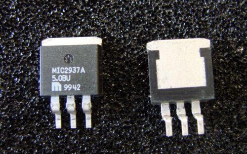 MICREL MIC2937A-5.0BU Low Dropout 5V 750mA Regulator, TO-263, Qty.5