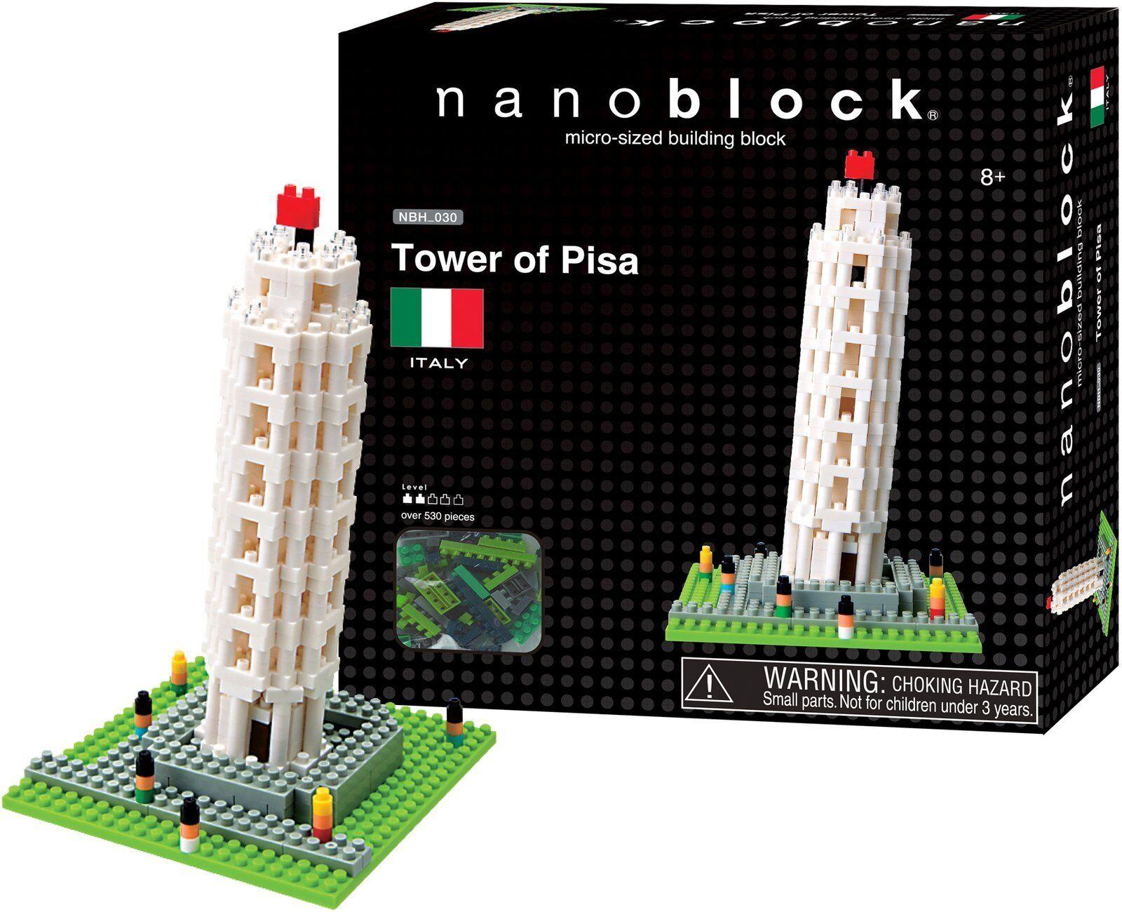 Tower of Pisa Nanoblock Miniature Building Blocks New Sealed Pk NBH030