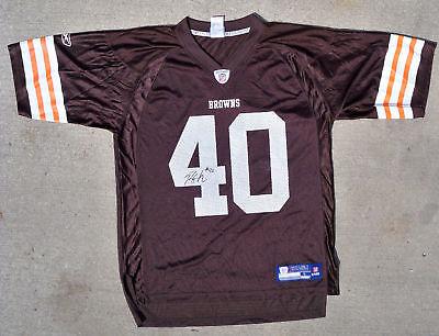 Cleveland Browns #40 PEYTON HILLIS Signed Auto Jersey!   eBay