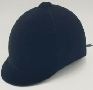 BEVERLY-HILLS-POLO-CLUB-BLACK-VELOUR-HORSE-RIDING-HELMET-HAT-Size-56-amp-Dustbag