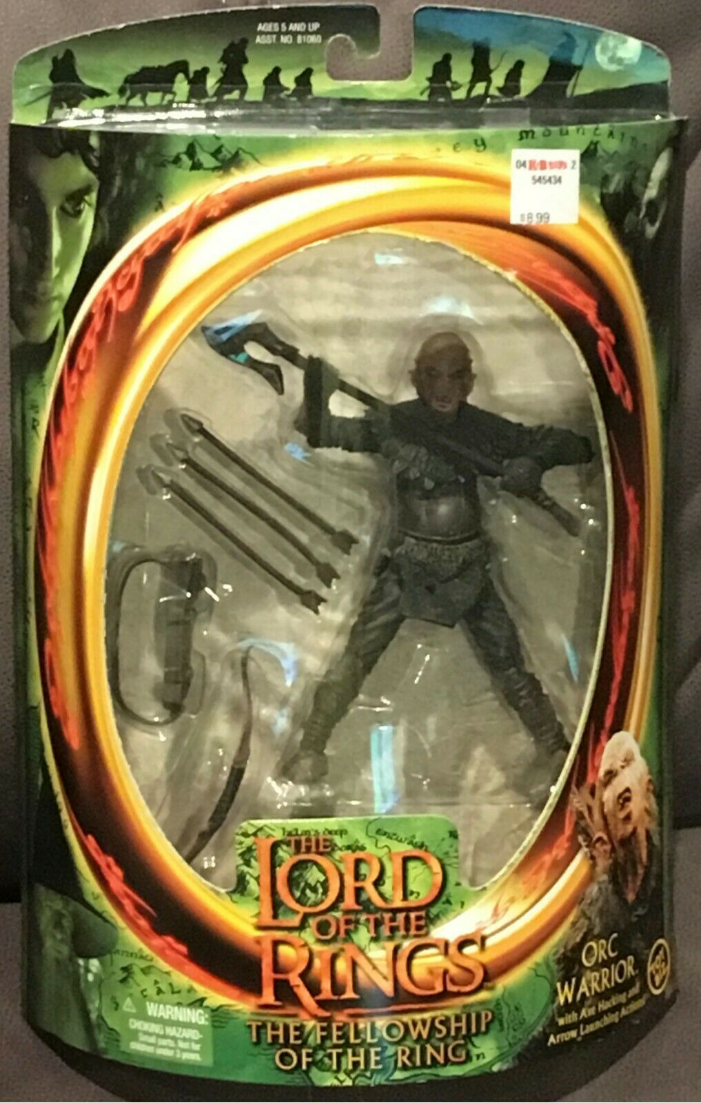 ORC WARRIOR WARRIOR WARRIOR - ToyBiz Lord of the Rings LOTR Fellowship of the Ring w  axe & bow af304c
