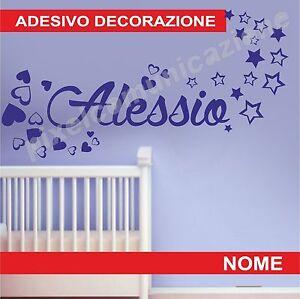 Wall stickers adesivi murali nome bimbo bimba bambino bambina cameretta ebay - Adesivi cameretta bimbo ...