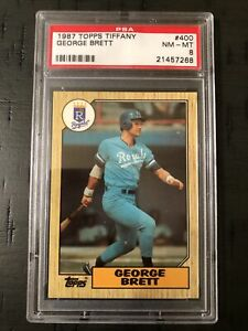 1987 Topps Tiffany George Brett #400 PSA 8 NM-MT Card