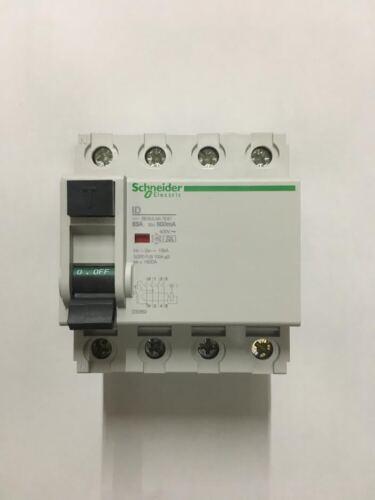 Schneider 4 Pole 63 Amp 500mA-A RCCB 400V Type A 23389 Residual Circuit Breaker