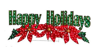 "72"" HOLOGRAPHIC LIGHTED HAPPY HOLIDAYS SIGN CHRISTMAS ..."