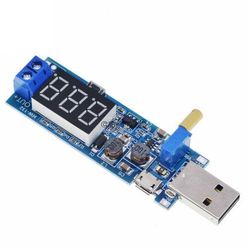 DC-DC USB Step UP//Down Adjustable Converter 5V to 1.2V-24V Power Supply Module