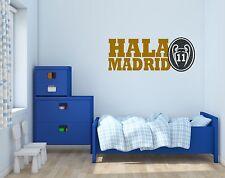 """Real Madrid """"Hala Madrid"""" Soccer Wall Decals Vinyl Sticker For Room Bedroom"""