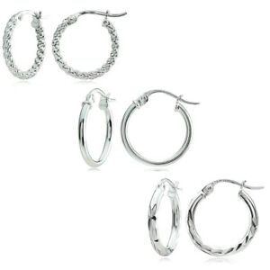 5ad8e040b Image is loading Sterling-Silver-Polished-Beaded-amp-Diamond-cut-15mm-