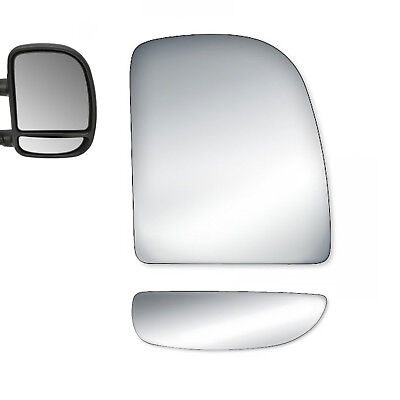 Upper Towing Mirror Glass for FORD F-250 SUPER DUTY Excursion  Driver Left Side