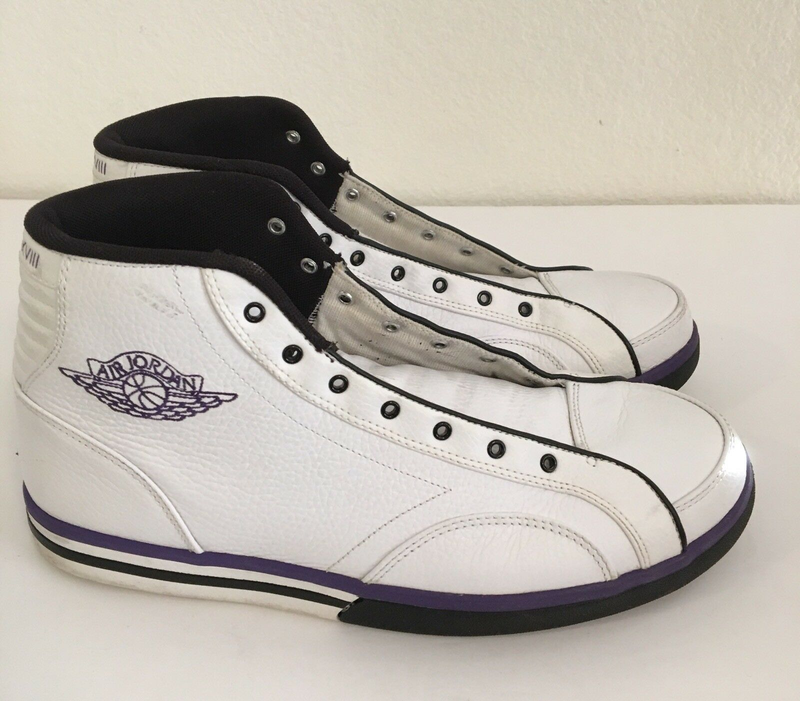 Nike Air Jordan Phly Legend MCMLXXVIII White Purple Trim Men's SZ 11M 2008 RARE