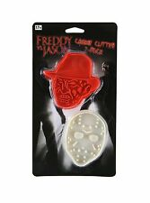 Horror Block Freddy vs Jason  2 Pack Plastic Cookie Cutter Nerd Block