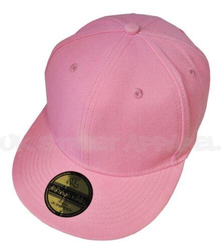 Plain Pink Flat Peak Baseball Cap