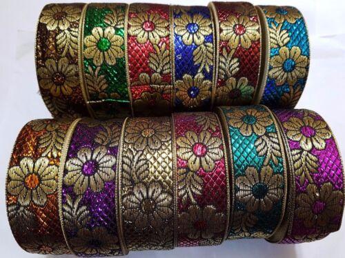1 Yard Beautiful stylish embroidered pattern lace trimming ribbon dress making